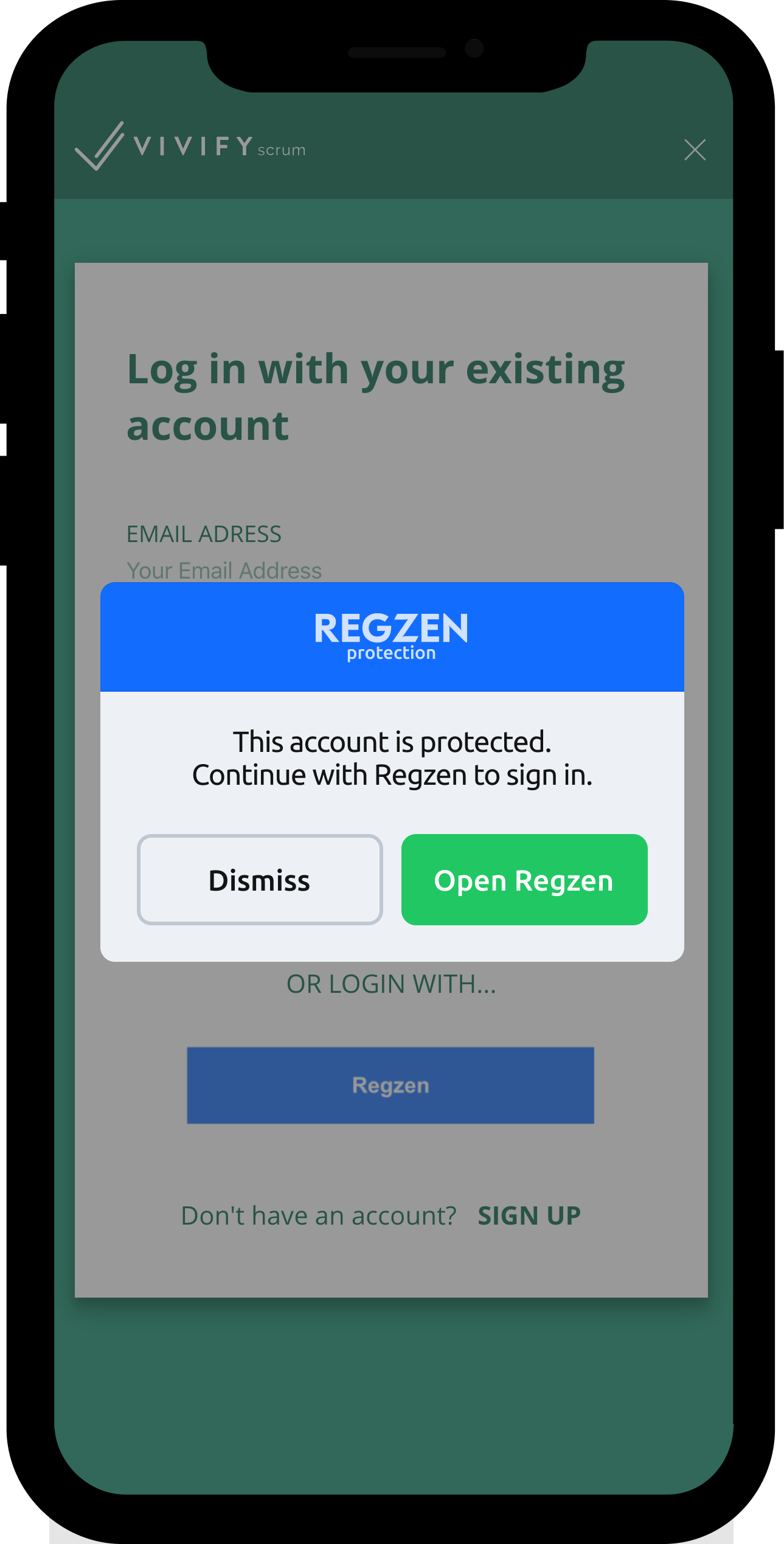 Sign-in Form Protectin - Regzen